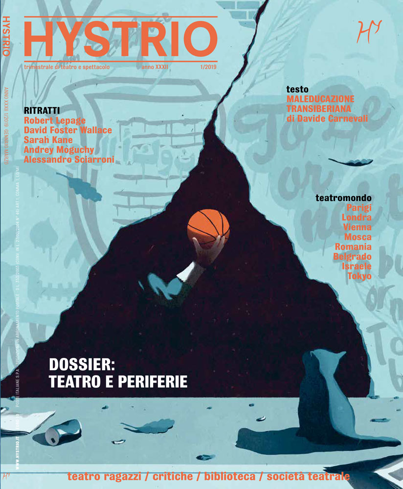 Cover For Hystrio Magazine About Theatre And Suburbs